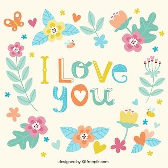 Я люблю тебя цветочные карты