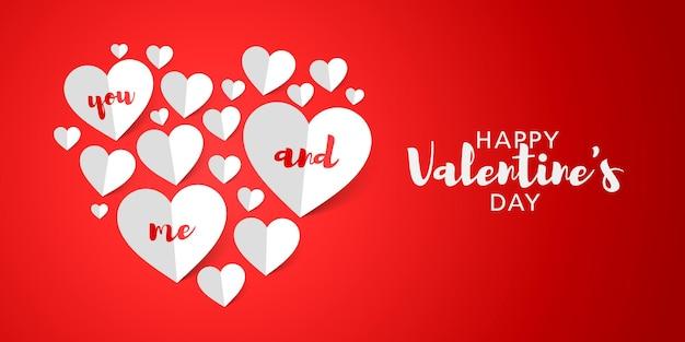 Я люблю вас. с днем святого валентина дизайн поздравительной открытки
