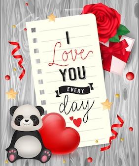 私はパンダで手紙を書くことを愛する