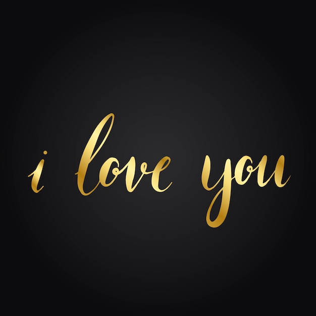 I love you typography style vector