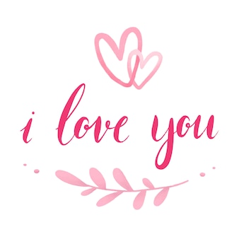 I love you typography vector