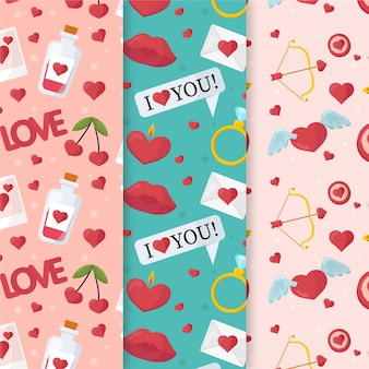 I love you valentine's day pattern