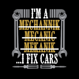 I'm a i fix cars. mechanic quote and saying