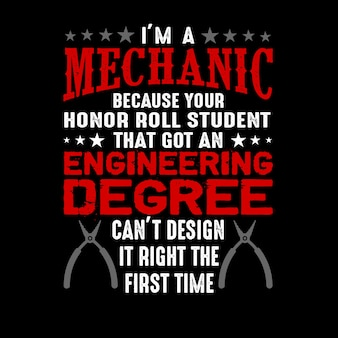 I'm a mechanic because your honor