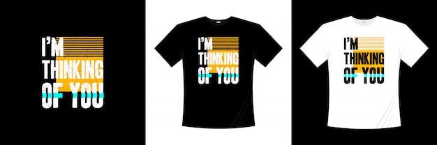 타이포그래피 티셔츠 디자인을 생각하고 있습니다