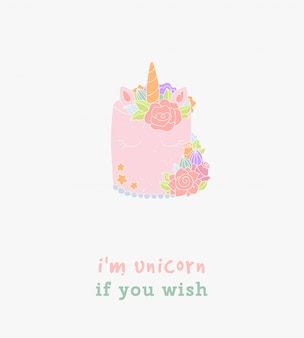 I'm unicorn as you wish typography greeting card.