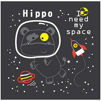 I need my space funny animal cartoon,vector illustration