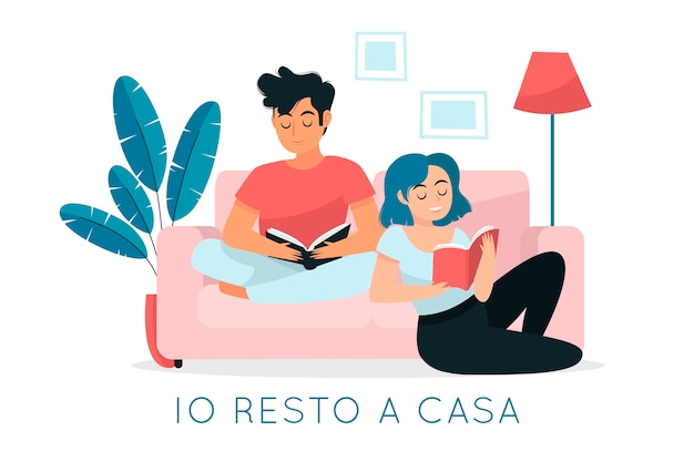 Я остаюсь дома на карантине и читаю со своими близкими
