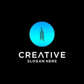 I tech logo design