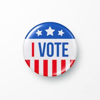 나는 미국 대통령 선거에 투표합니다.