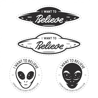 I want to believe patches set