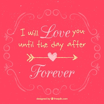 I will love you until the day after