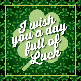 I wiss you a day full of luck card