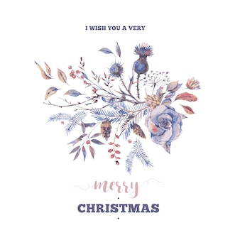 I with you a ver merry christmas, greeting card
