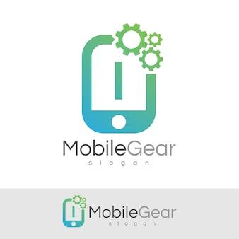 スマートモバイルの初期の手紙iロゴデザイン