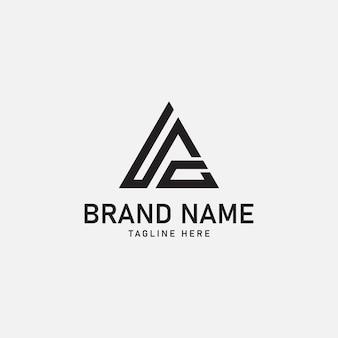 Ia ig letters initial logo design vector