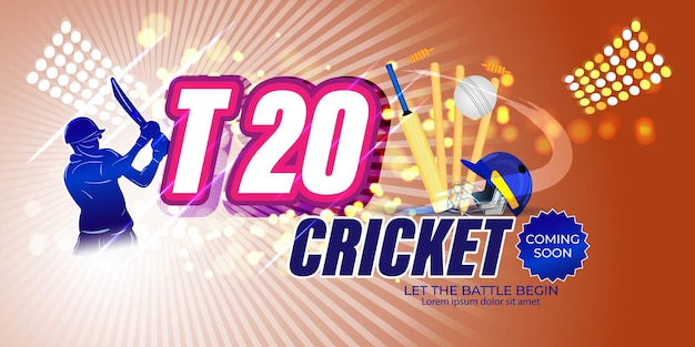 Icc men's t20 world cup cricket championship abstract background.