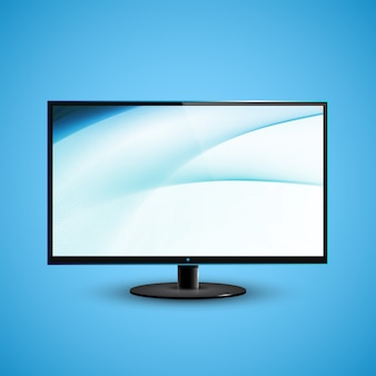 Телевизор с плоским экраном icd иллюстрация