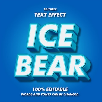 얼음 곰 텍스트 효과