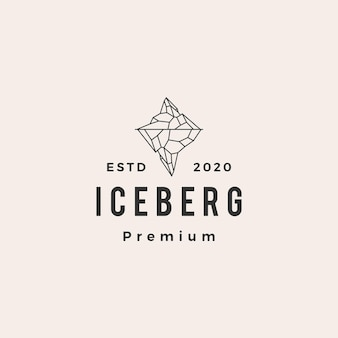Ice berg hipster vintage logo