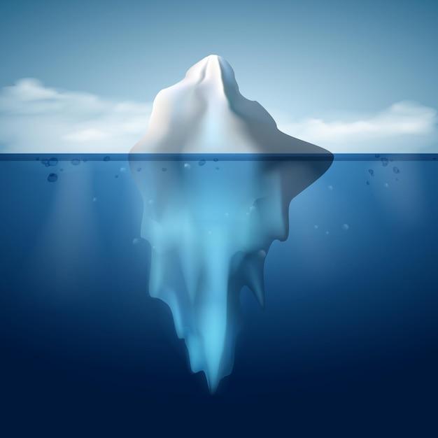 Айсберг на воде концепции