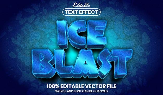 얼음 폭발 텍스트, 글꼴 스타일 편집 가능한 텍스트 효과