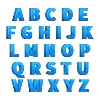 Ice blue 3d letters