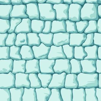 氷のレンガのシームレスパターン