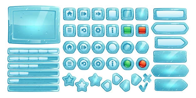 Ice buttons for ui game