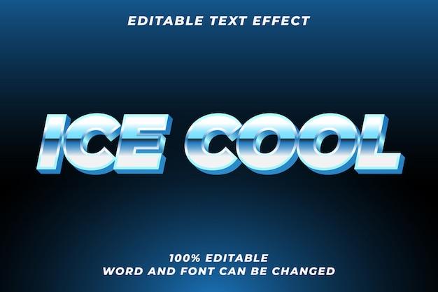Ice coolテキストスタイルエフェクトプレミアム