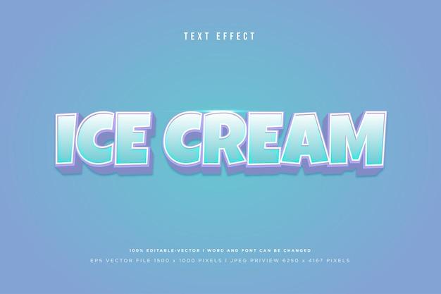 블루에 아이스크림 3d 텍스트 효과