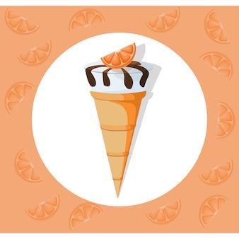 Ice cream background design