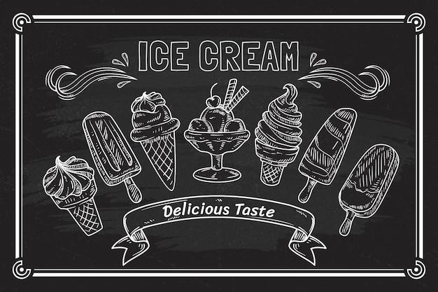 아이스크림 칠판 배경