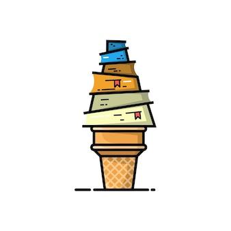 アイスクリームの本のロゴデザイン