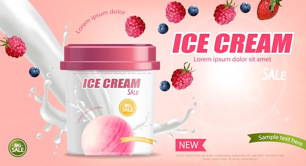Ice cream bucket banner