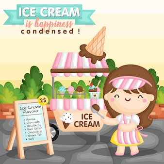 Ice cream cart girl