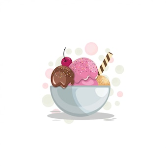 Ice cream cartoon design vector