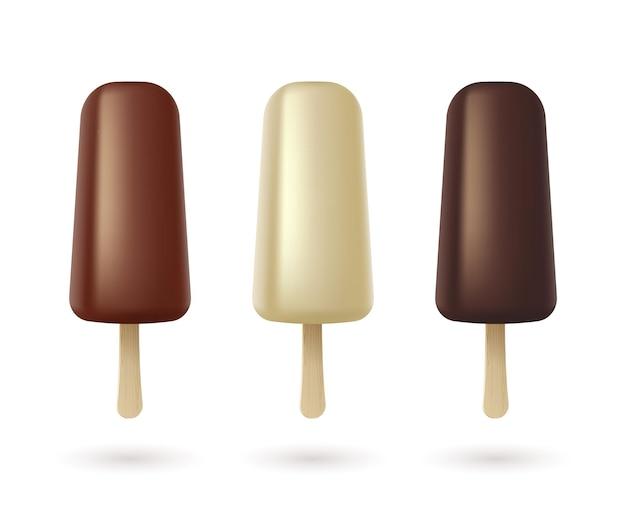 ホワイトダークミルクとホワイトチョコレートのエスキモーパイのアイスクリームコレクション