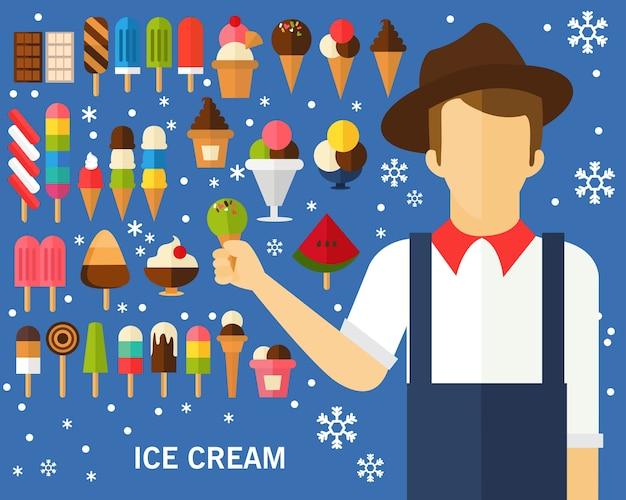 Ice cream concept background