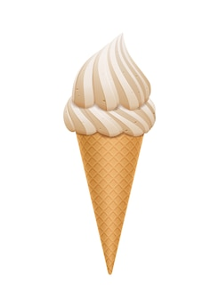 Ice cream cone isolated