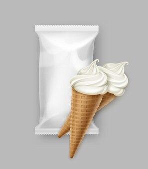パッケージ付きアイスクリームコーン