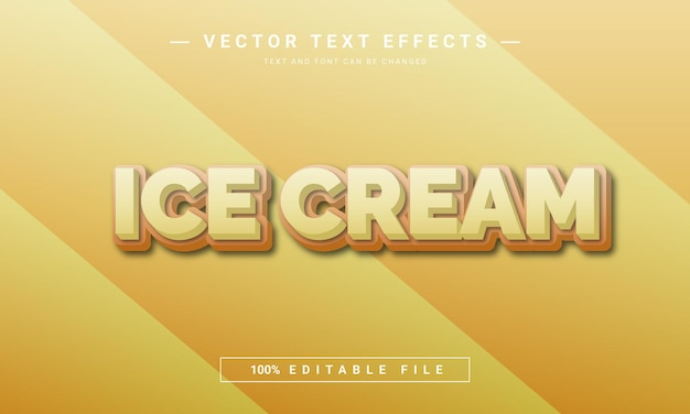 アイスクリームの編集可能なテキスト効果