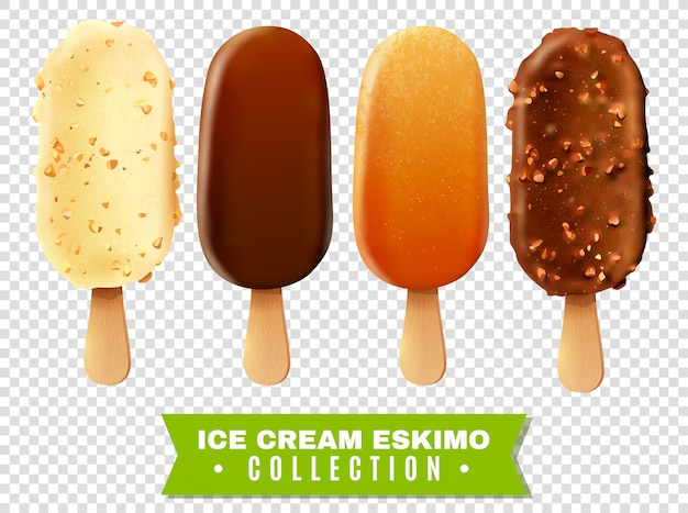 Ice cream eskimo pie collection