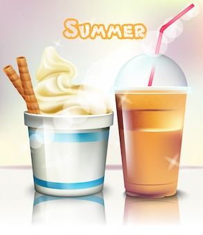 Ice cream and frappe