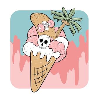 Ice cream halloween summer