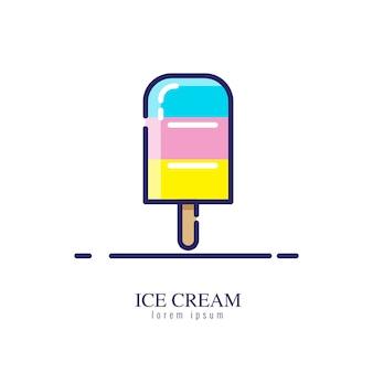 Иконка мороженого на белом фоне