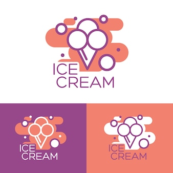 Ice cream illustration. ice cream sundae on background. ice cream.