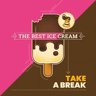 Иллюстрация мороженого Premium векторы