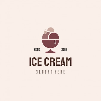 Ice cream logo design, sweet food logo