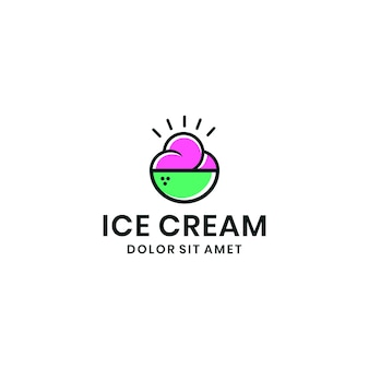 Ice cream logo graphic design
